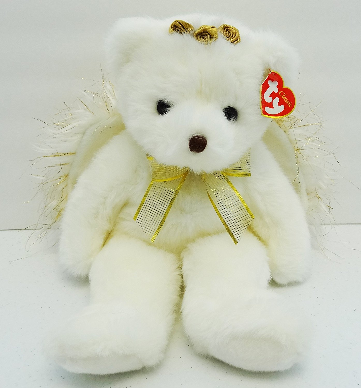 Get Quotations · Ty Beanie Babies Ty Classic Divine the Angel bear Retired 7a3dda41063d