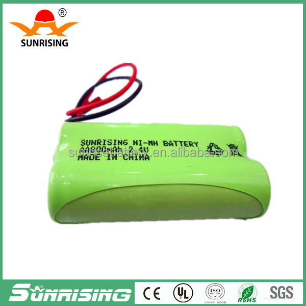 rechargeable batteries aa ni-mh battery pack 4.8v 1000mah aa battery pack for solar lights