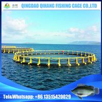 HDPE plastic fish farming tilapia floating net circular aquaculture equipment fishing cage in the sea