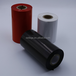 Dellege Quality-Assured 110mm*300M Thermal Transfer Wax Printing Ink Ribbon for Barcode Printer