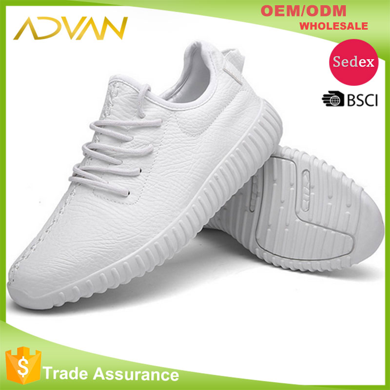 2017 whole sale factory directly supply yeezy fashion pu casual shoes for <strong>men</strong>