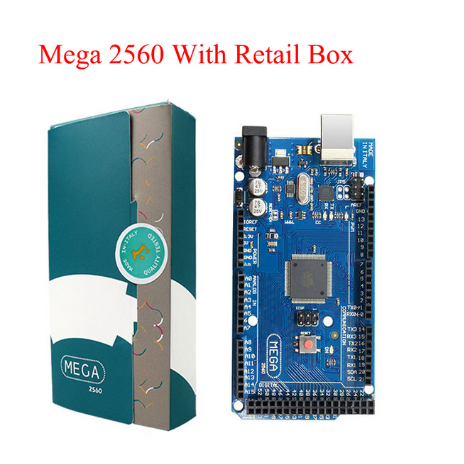 Mega 2560 R3 Board 2012 Offcial Version with ATMega 2560 ATMega16U2 Chip with Original retail box