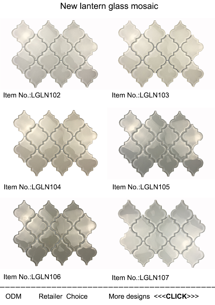 Crystal glass lantern mosaic tile for kitchen backsplash,bathroom wall