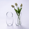 The vase every bits of bit design & Small mouth cylindrical glass vase & Desktop place adorn article
