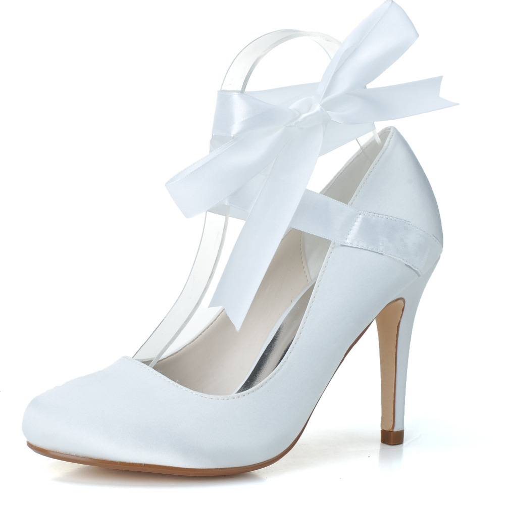 Ribbon Lace Up Prom Shoes