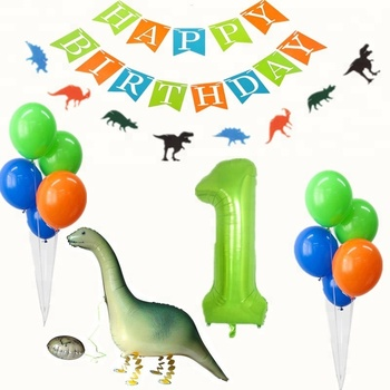 Dinosaur Park Birthday Garland Party Balloons 1st Kids Decorations Set Supplies