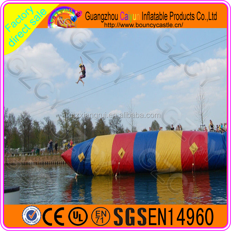 Lake inflatable water blob catapult launcher for sale