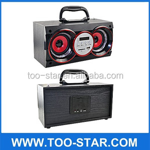 digital wooden speaker stereo boombox for home theatre