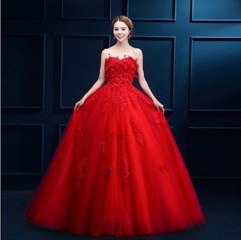 Alibaba China Klasik Bola Gaun Gaun Pengantin Untuk Wanita Gemuk