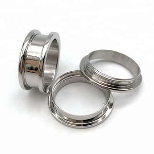 Custom Made Jewelry Ring Blanks 316L Stainless Steel Interchangeable Ring for Men Women with Threads