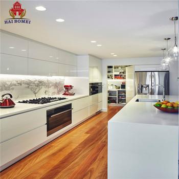 Bomei New Modern Design Kitchen Cupboards Modular Gl Cabinet With Concealed Slide Drawer
