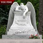 Natural Weeping Marble Angel Tombstones