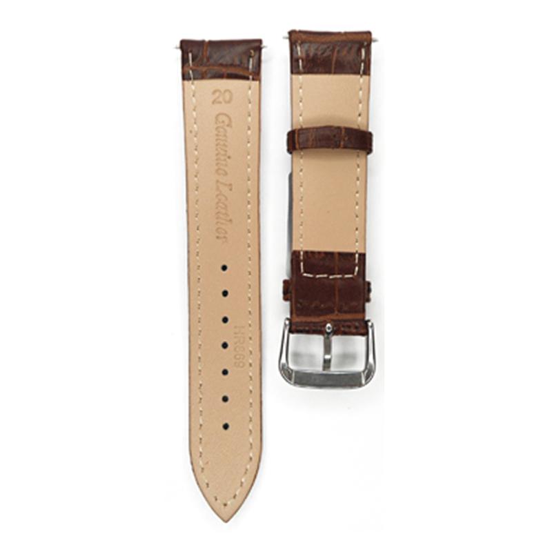 Часы полоса 12 мм 14 мм 16 мм 18 мм 19 мм 20 мм 21 мм 22 мм 24 мм бамбук темно-кофейный ремешок из натуральной кожи ремешок для час пояса часы