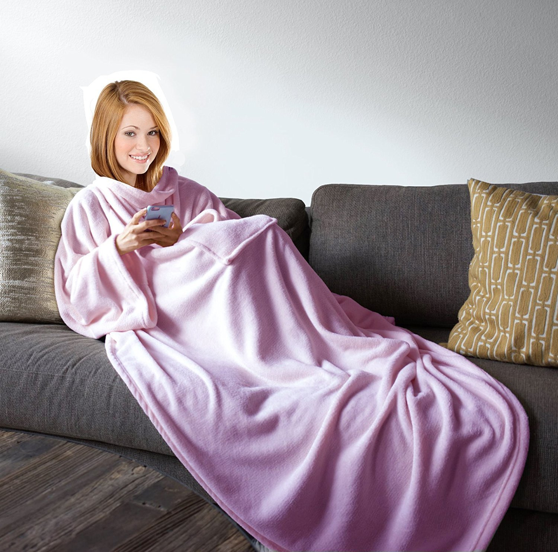 Buy Snuggle Fleece Blanket Cozy Wrap Warm Throw Travel Plush Fabric ... 585726200