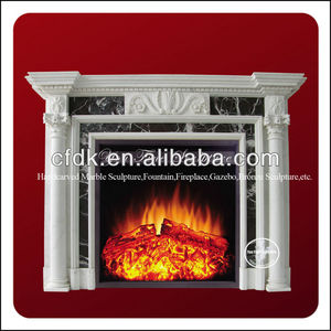 Natural marble & granite fireplace hearth