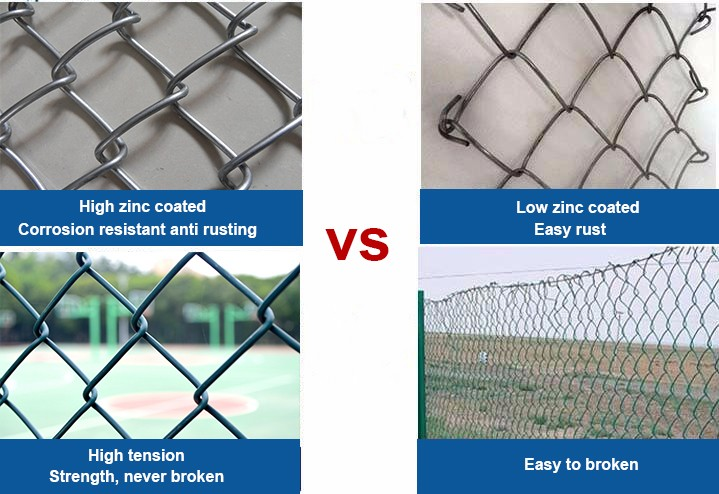 pvc coated metal chain link fence and steel garden fence design