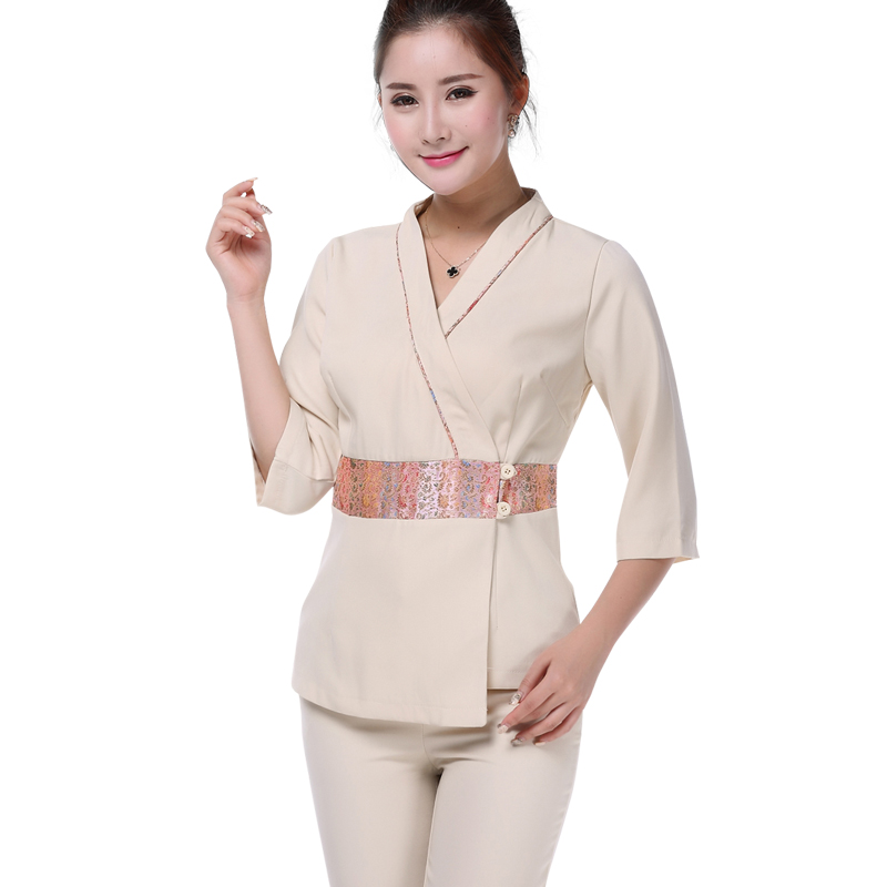 Online buy wholesale massage uniforms from china massage for Spa uniform female