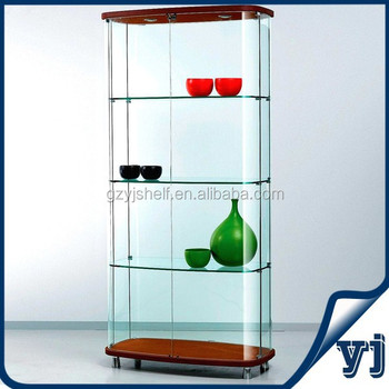 simple style corner glass display glass display display furniture