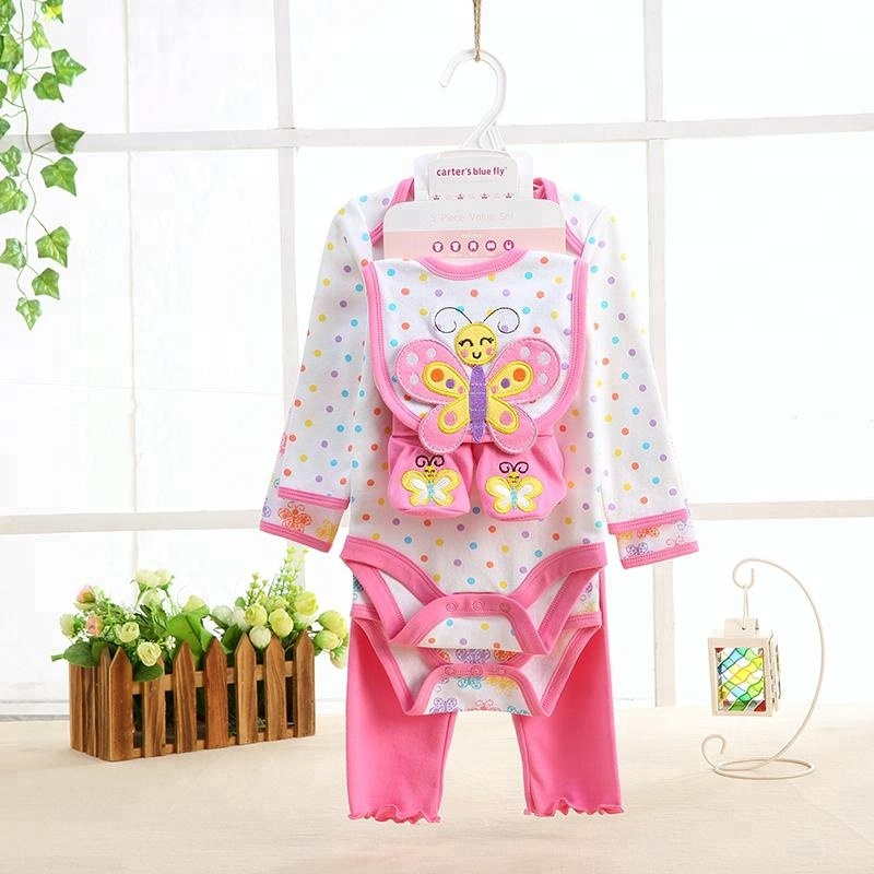 760c68e724ec7 100% Cotton Infant Clothes Romper Gifts Set Newborn Baby Clothing Gift Sets