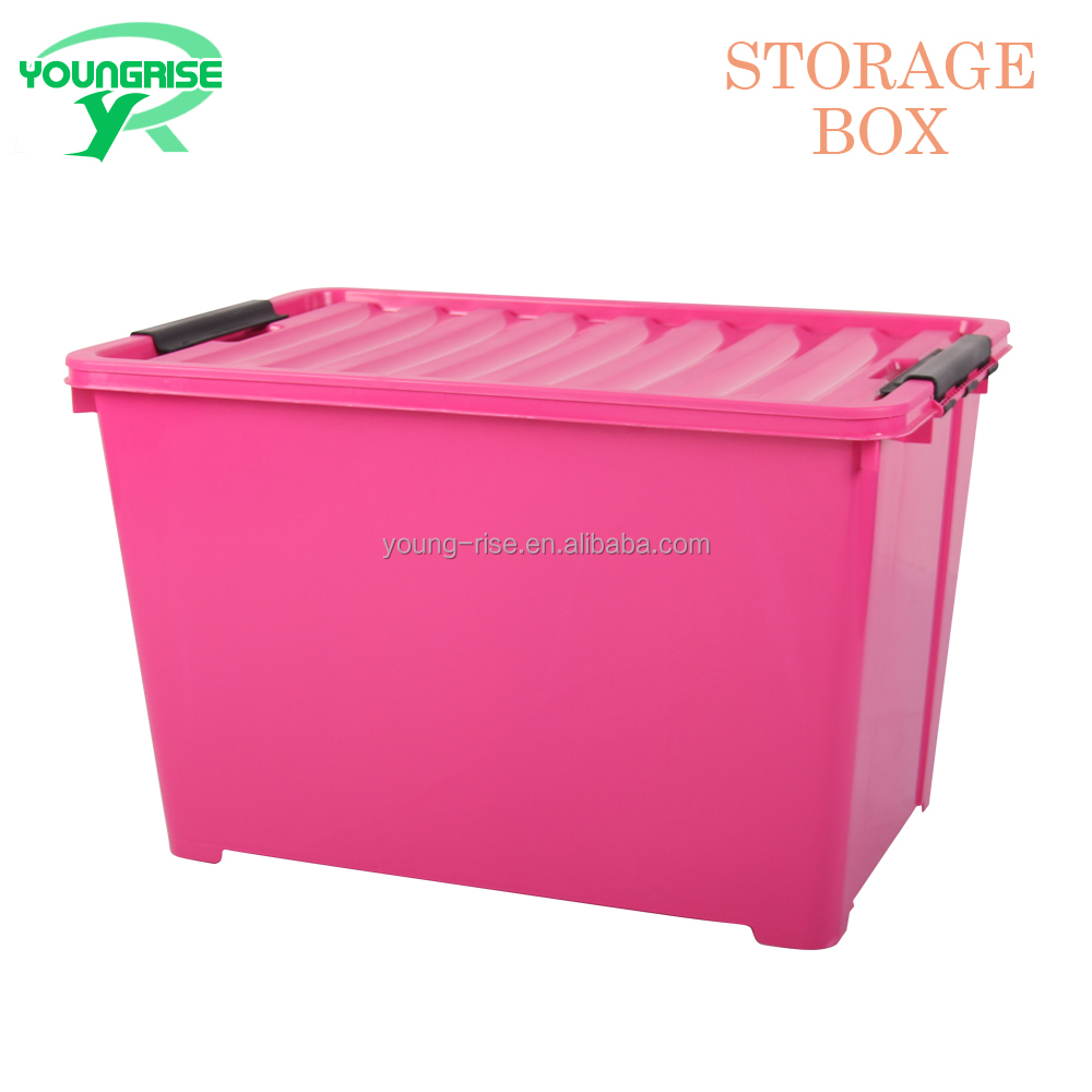 120L Best price wholesale home large plastic box with lids for toys and clothing