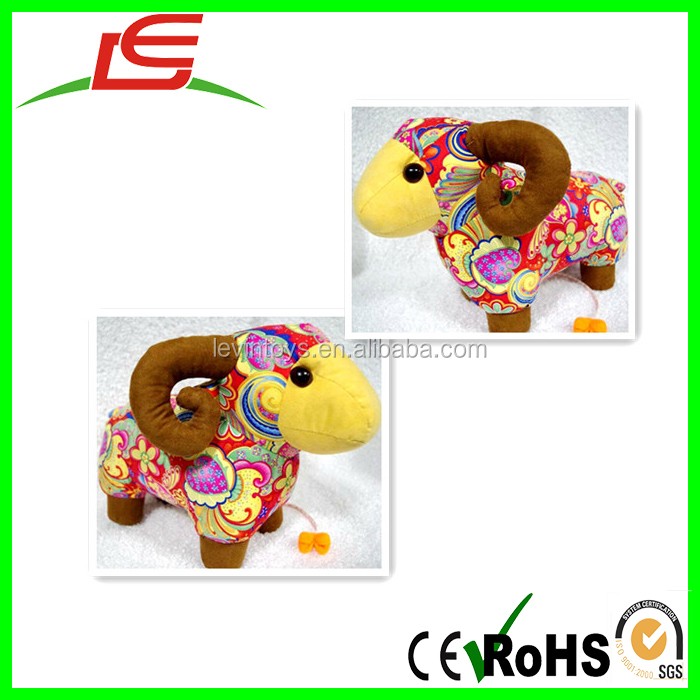 alibaba china custom mascot plush toys stuffed doll zodiac goat