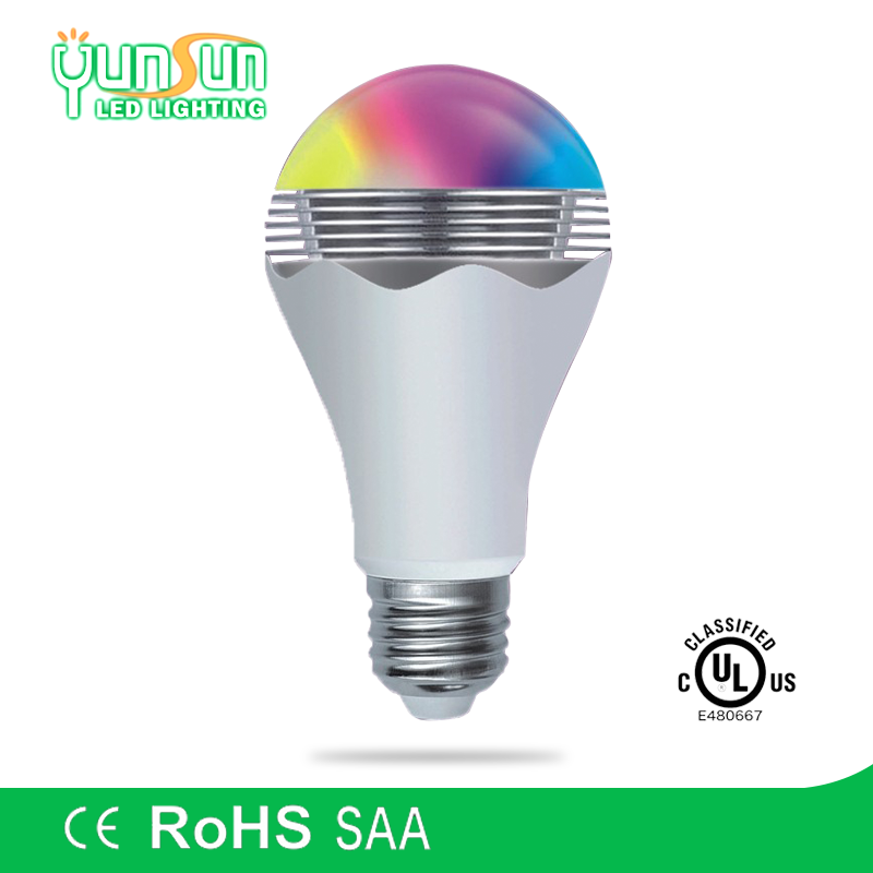 Discount CE/RoHs bluetooth battery operated led light bulb gu10 7w with bluetooth remote, wifi music led bulb bluetooth