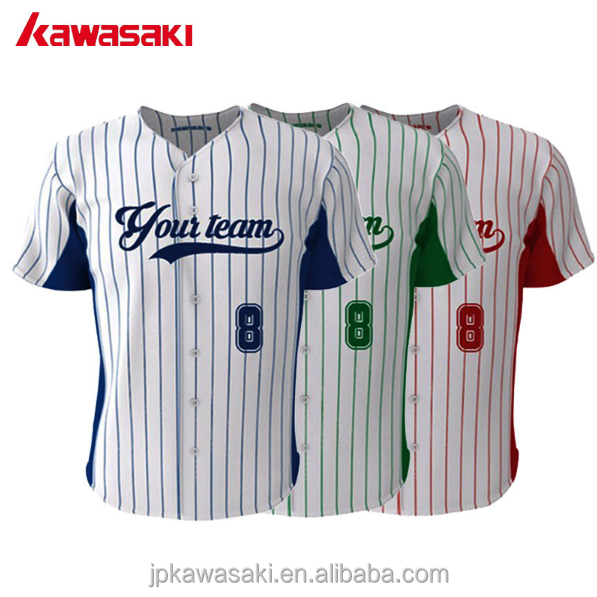 High Quality Custom Brand Fans Mens Women Fashion Striped Baseball Jersey