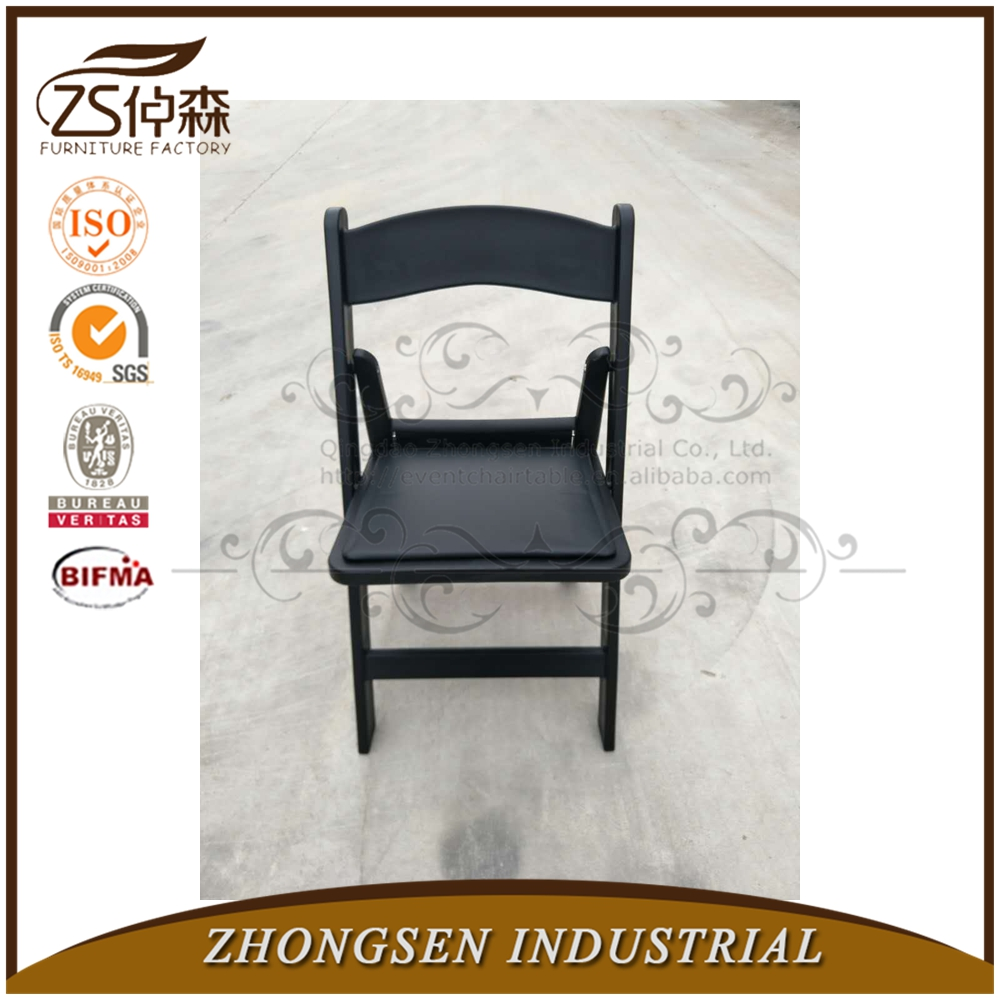 Factory price Resin folding white outdoor wedding chair