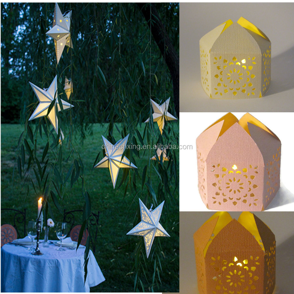 star&diamond shape paper lantern for wedding party home decoration