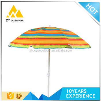 Free Sample Oem Available Stripe Pattern Perfect Patio Umbrellas With Parts