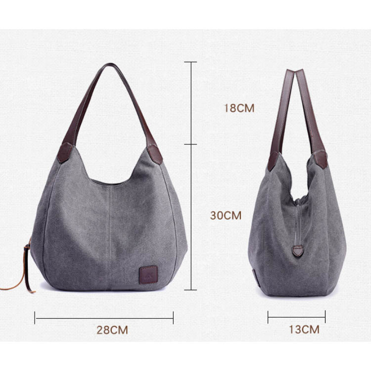 Osgoodway2 Hot Selling Canvas Handbag Women Multicolor Ladies Hand Bags Handbag With Leather Handle