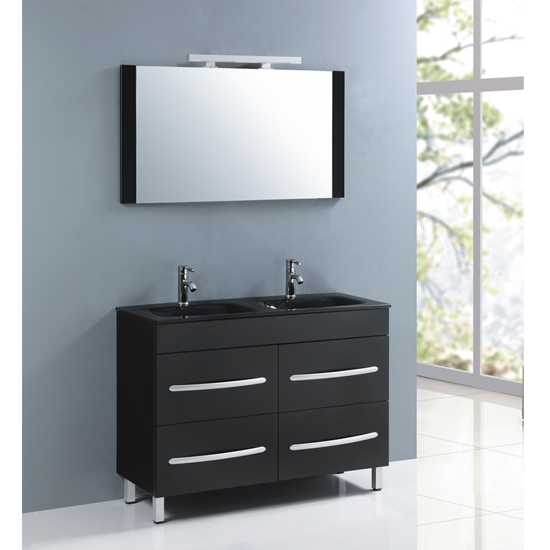 Venta al por mayor tocador de baño negro-Compre online los mejores ...