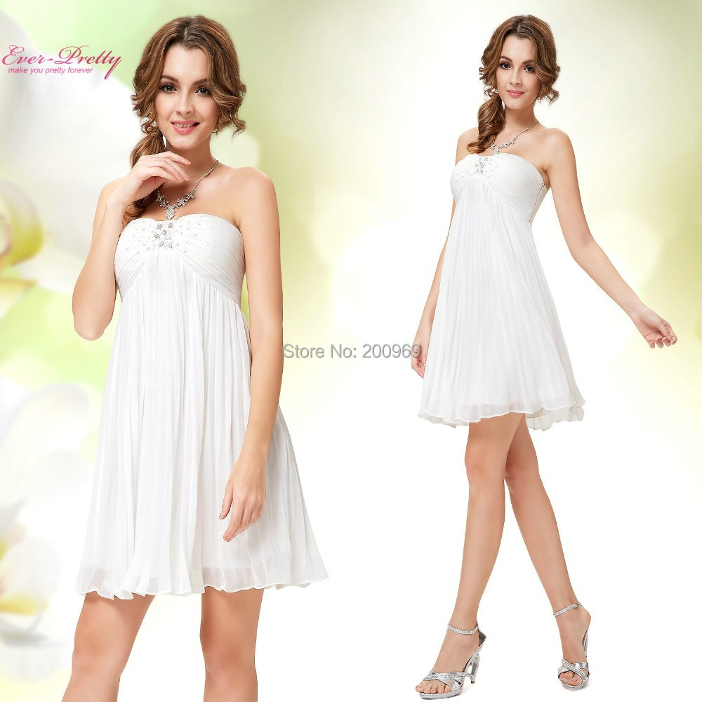 Special Occasion Dresses HE05120WH Women White Strapless ...