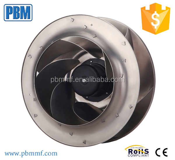EC DC input ec centrifugal exhaust fan