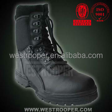 [Super Deal]TROOPS TACTICAL BLACK GENUINE LEATHER ASSAULT BOOTS 70-1027