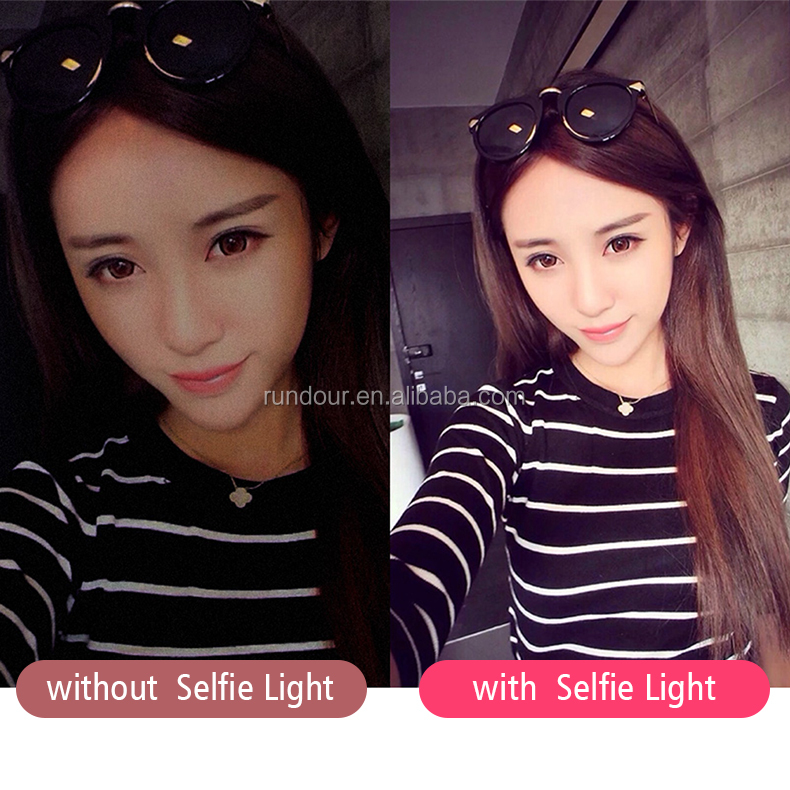 Highest Level Clip on Touch Screen Mode selfie Ring Light Wide Angle Lens with Macro Lens for Smartphone Mobile selfie light