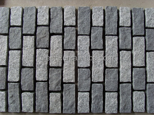 Cheap Cobblestone Granite Mesh Paver Driveway Paving Stone For Street