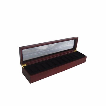 Custom acrylic window wooden watch display box