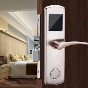 Cheapest RFID swipe keyless card door lock With Free Multi-Language Software