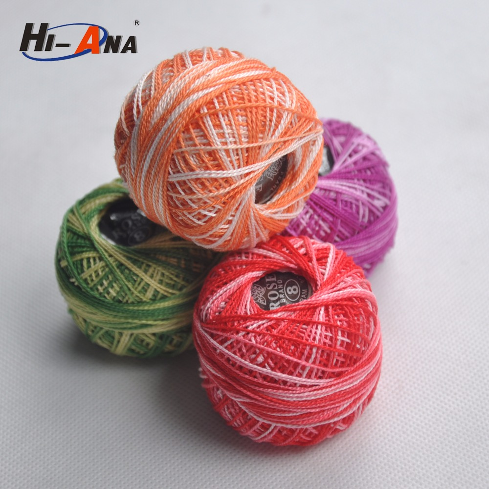 Your one-stop supplier various colors variegated cotton thread