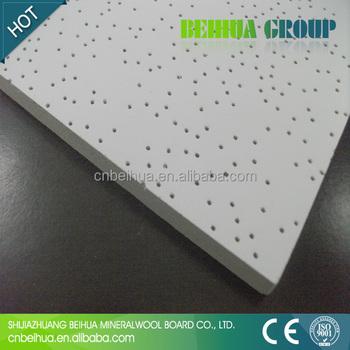 Decorative mineral fiber board thermal insulation ceiling for Mineral fiber board insulation