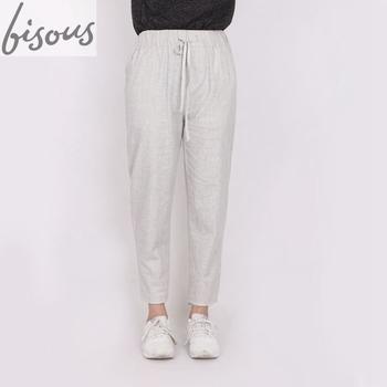 united states wide range good quality Women's Elastic Waist Casual Relax Capris Pants Cotton Linen ...