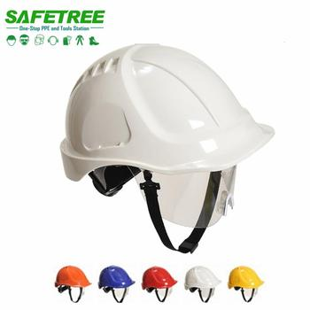 ANSI Z89.1 Safety Helmet with Visor CE EN397 Hard Hat goggles Visor