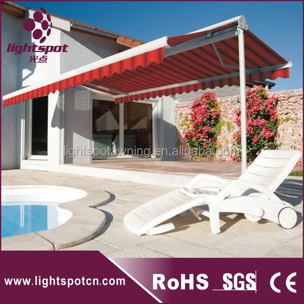 Aluminum retractable double side standing Large canopy double car folding large canopy commercial large canopy
