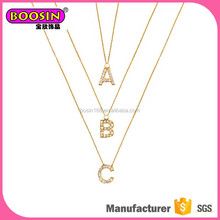 Elegant style gold necklace pendant initials, women's initial necklace