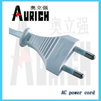 french plug insert Power cord ,VDE standard electronic pvc cable,2 pin round pin european plug