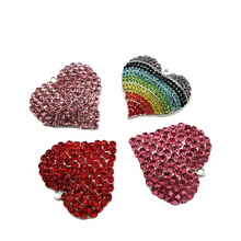 Bling Strass Coeur Forme Pendentif Charme pour Collier