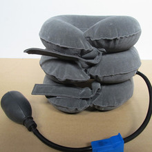 Grey Rubber Ball Air Neck Massager