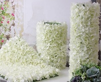 Wholesale silk rose and hydrangea artificial flowers wall for indoor and outdoor decoration