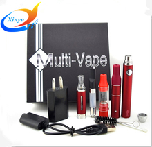 New Multi vape e cigarette kit Evod battery with 4 atomizer for dry herb was 4 In 1 Electronic cigarette gift kit Mt3 Vaporizer